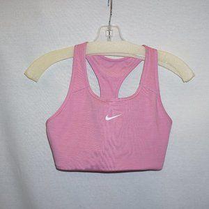 NIKE cropped pink sports bra shelf bra NEW M